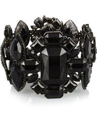 River Island Black Gemstone Statement Bracelet - Lyst