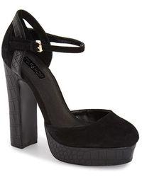 Topshop | Shoegirl Suede Platform Sandals  | Lyst