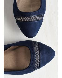East Lion Corp/Qupid - Prance As You Please Flat In Navy - Lyst