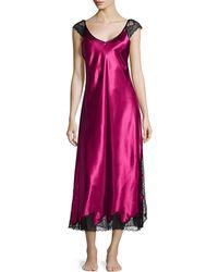 Oscar de la Renta Lace Luster Sleeveless Gown - Lyst