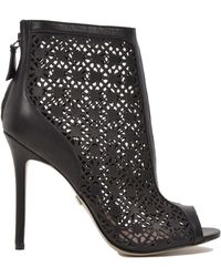 Badgley Mischka July Peep Toe Laser Cut-Out Ankle Boot - Lyst