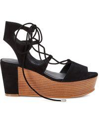 Rebecca Minkoff   Wedge Tie Sandal   Lyst