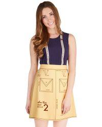 ModCloth Sew It Seams Skirt - Lyst
