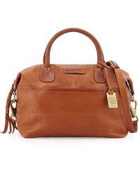 Frye Jenny Soft Leather Satchel Bag Whiskey - Lyst