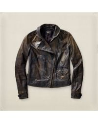 RRL - Studded Motorcycle Jacket - Lyst