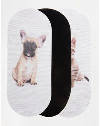 Asos 3 Pack Pop Socks in Animal Print - Lyst