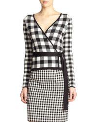 Diane von Furstenberg Kyla Silk & Cotton Wrap Top - Lyst