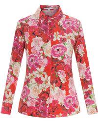 Isolda Printed Silk Shirt - Lyst