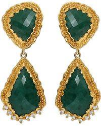 Victor Velyan - Emerald Earrings - Lyst