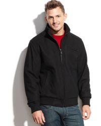 Calvin Klein Woolblend Bomber Jacket - Lyst
