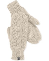 The North Face Cable-knit Micro-fleece Mittens - Lyst