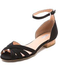 Marais Usa - Cork Heel Sandals Licorice - Lyst