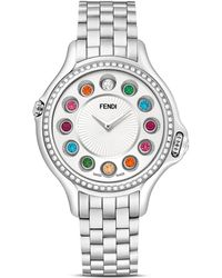 Fendi - Crazy Carats Stainless Steel Rotating Gemstones Watch With Diamond Bezel Dial, 38mm - Lyst