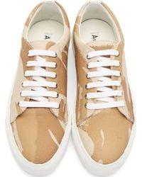 Acne Studios Brown Camo Adriana Sneakers - Lyst