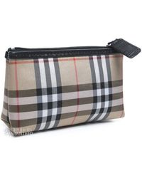 Burberry Pre-Owned Check Canvas Mini Cosmetic Pouch multicolor - Lyst