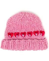 Wool And The Gang - Knitted Heart Beanie Hat - Lyst