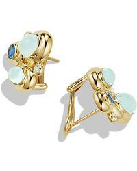 David Yurman Mosaic Earrings With Diamonds In 18K Gold - Lyst