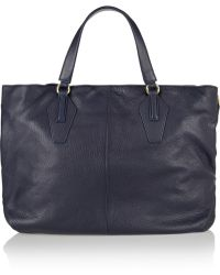 Halston Heritage Textured-leather Tote - Lyst