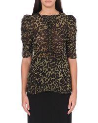 Etoile Isabel Marant Caja Leopard-print Top - Lyst