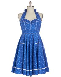 Hell Bunny London (pop Soda) Blueberry Buckle Dress - Lyst