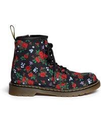 Dr. Martens 'Delaney' Floral Print Canvas Kids Boots multicolor - Lyst