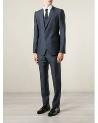 Dolce & Gabbana Classic Three-Piece Suit blue - Lyst