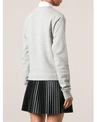 MSGM Heart Print Sweatshirt - Lyst