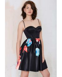 Nasty Gal Bloom And Board Fit & Flare Dress - Lyst