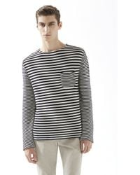 Gucci Striped Knit Cotton Sweater - Lyst