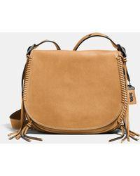 COACH | Whiplash Saddle Bag In Leather | Lyst