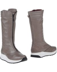 Vienty - Front-Zip Leather Knee-High Boots - Lyst