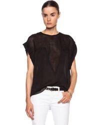 Isabel Marant Rea Modern Flou Cotton Top - Lyst