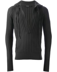 Unconditional - Thick Ribbed Hoodie - Lyst