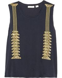 Sass & Bide On My Terms Embellished Cotton-jersey Top - Lyst