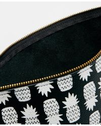 Falconwright - Leather Clutch In Pineapple Print - Lyst