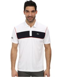 Lacoste Sport Pique Ultra Dry Chest Stripe Polo - Lyst