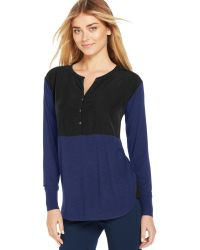 Calvin Klein Jeans Longsleeve Colorblocked Henley - Lyst