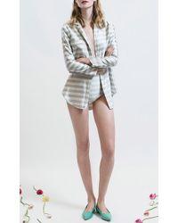 Katie Ermilio - Striped Luxe Pajama Top - Lyst