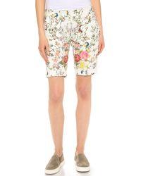 Roseanna - Floral Neoprene Short - Lyst