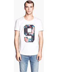 H&M T-Shirt with Appliqué - Lyst