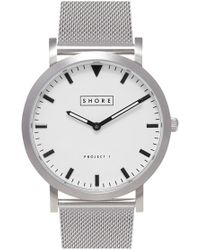 Shore Projects - 'poole' Mesh Strap Watch - Lyst