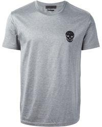 Alexander McQueen Gray Skull T-Shirt - Lyst