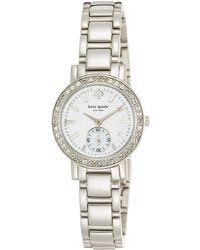 Kate Spade Ladies Mini Gramercy Watch with Crystal Detail - Lyst