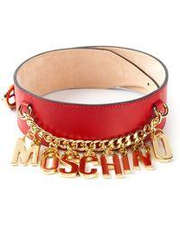 Moschino Logo Chain Belt - Lyst