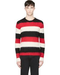 Diesel Red and Black Striped K_bala Sweater - Lyst