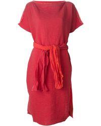 Daniela Gregis Belted Linen Dress - Lyst