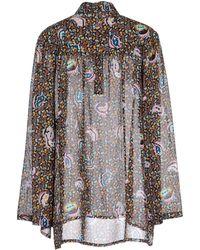 Balenciaga Mixedpattern Jacquard Knit Top black - Lyst