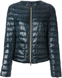 Herno Blue Padded Coat - Lyst