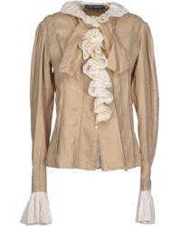 Ralph Lauren Beige Shirt - Lyst