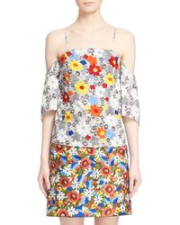 Creatures of the Wind - 'telan' Embroidered Floral Print Cotton Top - Lyst